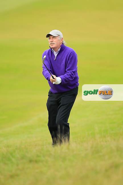 Dermot Desmond during Round 2 of the Alfred Dunhill Links Championship at Kingsbarns Golf Club on Friday 27th September 2013.<br /> Picture:  Thos Caffrey / www.golffile.ie