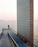 CHINA, Macau, Asia, woman photographing sea view at the Macao Cultural Center