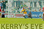 Brendan Kealy Kerry in action against  Cork in the National Football league in Austin Stack Park, Tralee on Sunday.