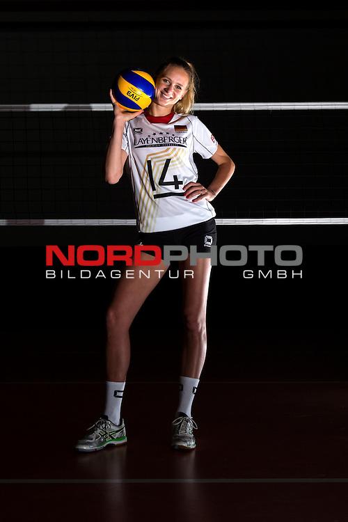 04.06.2015, Bundesleistungszentrum, Kienbaum<br /> Volleyball, Fotoshooting Nationalmannschaft Frauen<br /> <br /> PortrŠt, Portraet, Portrait Margareta Kozuch (#14 GER) / Out of the box <br /> <br />   Foto &copy; nordphoto / Kurth