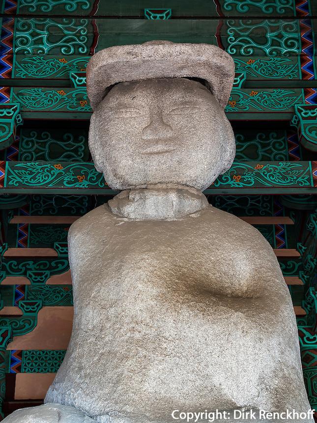 Statue von Miruk, dem kommenden Budha, 11.Jh., buddhistischer Tempel JeongmiSa  in Buyeo, Provinz Chungcheongnam-do, S&uuml;dkorea, Asien, UNESCO-Weltkulturerbe<br /> Statue of Miruk, the oncoming Buddha, buddhist temple JeongmiSa in Buyeo province Chungcheongnam-do, South Korea, Asia, UNESCO world-heritage