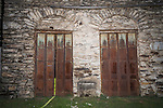 Iron doors on old stone building, Bear Valley, Mariposa County, Calif.
