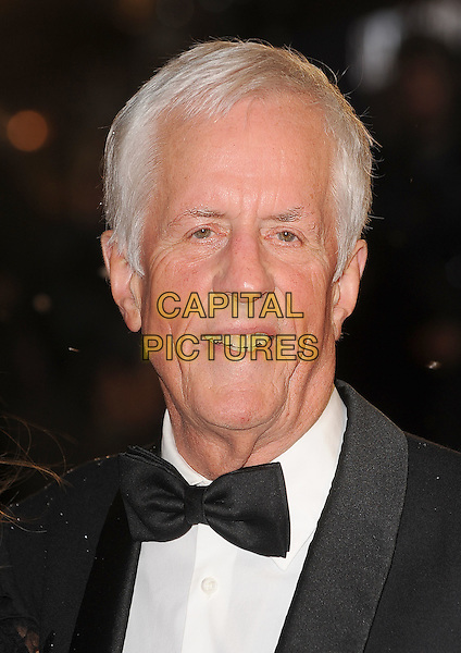 "MICHAEL APTED.The Royal Film Performance 2010: The World Premiere of ""Chronicles of Narnia: The Voyage of the Dawn Treader"" at the Odeon, Leicester Square, London, England..November 30th 2010..headshot portrait black white bow tie.CAP/BEL.©Tom Belcher/Capital Pictures."
