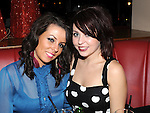 Rachel Williams and Ciara Leddy enjoying the new year celebrations at Brú. Photo: Colin Bell/pressphotos.ie