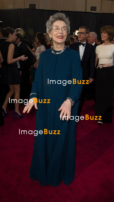 Emmanuelle Riva arriving for the 85th Academy Awards at the Dolby Theatre, Los Angeles.