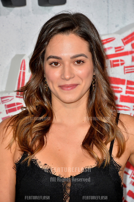 """LOS ANGELES, CA. August 28, 2018: Stephanie Arcila at the world premiere of """"Peppermint"""" at the Regal LA Live."""
