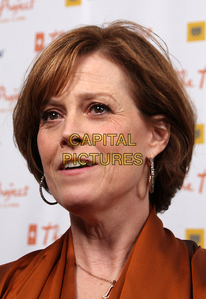 "SIGOURNEY WEAVER.11th Annual Trevor Project's ""Cracked XMas"" Benefit at the Wiltern Theatre, Los Angeles, California, USA..December 7th, 2008.headshot portrait hoop earrings .CAP/ADM/KB.©Kevan Brooks/AdMedia/Capital Pictures."