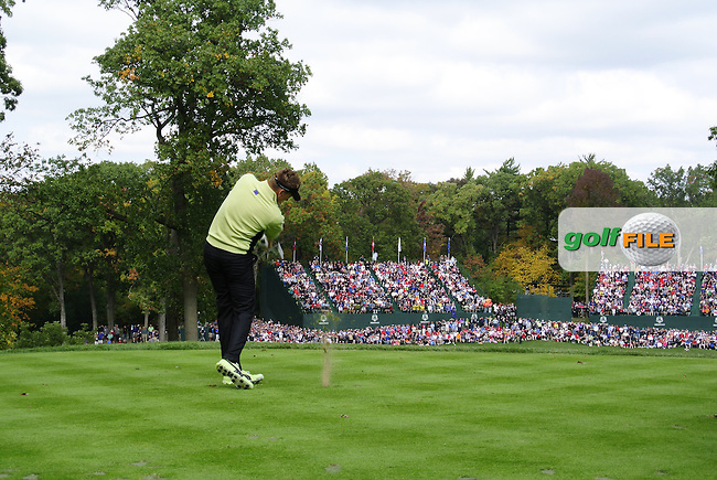 Ian Poulter during Friday's Morning Foursomes Matches of the 39th Ryder Cup at Medinah Country Club, Chicago, Illinois 28th September 2012 (Photo Eoin Clarke/www.golffile.ie)