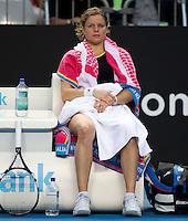 KIM CLIJSTERS (BEL) against DANIELA HANTUCHOVA (SVK) in the third round of Women's Singles. Kim Clijsters beat Daniela Hantuchova 6-3 6-2..20/01/2012, 20th January 2012, 20.01.2012..The Australian Open, Melbourne Park, Melbourne,Victoria, Australia.@AMN IMAGES, Frey, Advantage Media Network, 30, Cleveland Street, London, W1T 4JD .Tel - +44 208 947 0100..email - mfrey@advantagemedianet.com..www.amnimages.photoshelter.com.