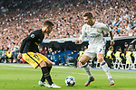 Cristiano Ronaldo (r) of Real Madrid competes for the ball with Lucas Hernandez of Atletico de Madrid in action during their 2016-17 UEFA Champions League Semifinals 1st leg match between Real Madrid and Atletico de Madrid at the Estadio Santiago Bernabeu on 02 May 2017 in Madrid, Spain. Photo by Diego Gonzalez Souto / Power Sport Images