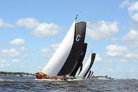ZEILSPORT: GROU: 05-08-2017, SKS Skûtsjesilen, winnaar skûtsje van Grou, schipper Douwe Azn. Visser, ©foto Martin de Jong