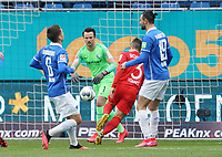 Torwart Manuel Riemann (VfL Bochum) hat den Schuss von Serdar Dursun (SV Darmstadt 98) - 07.03.2020: SV Darmstadt 98 vs. VfL Bochum, Stadion am Boellenfalltor, 2. Bundesliga<br /> <br /> DISCLAIMER: <br /> DFL regulations prohibit any use of photographs as image sequences and/or quasi-video.