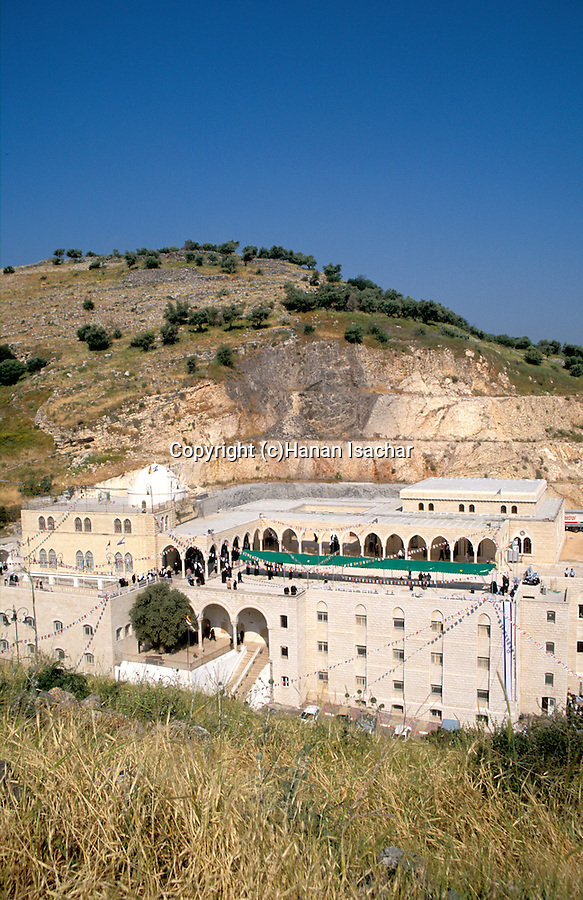 Israel, the lower Galilee. Nabi Shueib, the sacred site of the Druze, for here they venerate the tomb of Moses' father-in-law Jethro&#xA;<br />