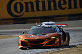 IMSA WeatherTech SportsCar Championship<br /> AMERICA'S TIRE 250<br /> Mazda Raceway Laguna Seca<br /> Monterey, CA USA<br /> Saturday 24 September 2017<br /> 93, Acura, Acura NSX, GTD, Andy Lally, Katherine Legge<br /> World Copyright: Richard Dole<br /> LAT Images<br /> ref: Digital Image RD_LS_17_313