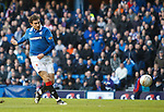 Nikica Jelavic lashes in his first and Rangers second goal of the match