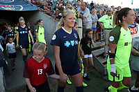 Cary, North Carolina  - Saturday August 05, 2017: Makenzy Doniak prior to a regular season National Women's Soccer League (NWSL) match between the North Carolina Courage and the Seattle Reign FC at Sahlen's Stadium at WakeMed Soccer Park. The Courage won the game 1-0.