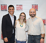 Ken Davenport, Sarah Saltsberg and Chris Bailey attends the Meet and Greet for Broadway's 'Gettin' the Band Back Together' on May 4, 2018 at Manhattan Movement & Arts Center in New York City.