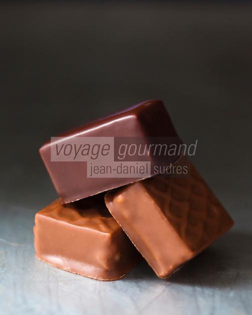 Europe/France/Ile-de-France/75/Paris:  Chocolats et Ganaches de La Maison du Chocolat - Robert Linxe - Stylisme : Valérie LHOMME