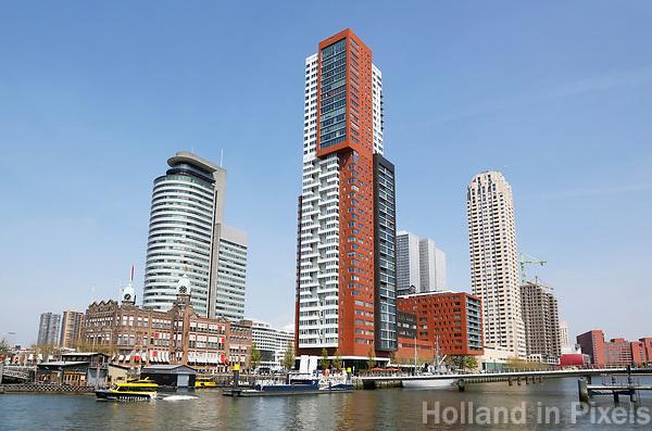 Nederland Rotterdam  2017 . De Wilhelminapier gezien vanaf Katendrecht. Foto Berlinda van Dam / Hollandse hoogte
