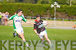 Shane Murphy Milltown-Castlemaine in action against Bryan Costello Saint Brendans in the First Round of the Kerry Senior Football Championship at Milltown on Sunday.