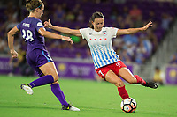 Orlando, FL - Saturday August 05, 2017: Taylor Comeau during a regular season National Women's Soccer League (NWSL) match between the Orlando Pride and the Chicago Red Stars at Orlando City Stadium.