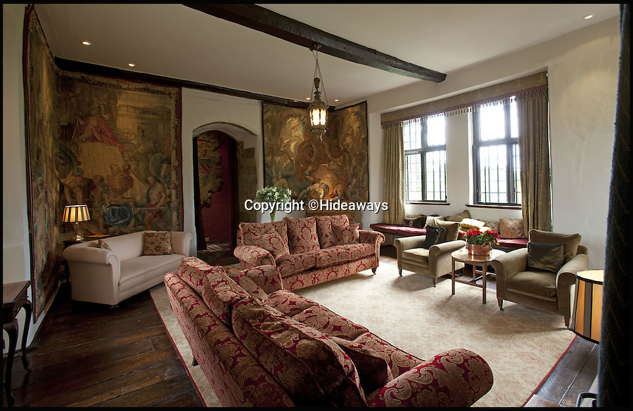 BNPS.co.uk (01202 558833)<br /> Pic: Hideaways/BNPS<br /> <br /> Period features - beautiful tapestries line the walls.<br /> <br /> You can now live like a king... but it will cost you £6,000 a week!<br /> <br /> This stunning historic house offers the ultimate 'Lord of the Manor' experience - but you'll need deep pockets to enjoy the life of luxury.<br /> <br /> The Grade II* listed King John's House has eight opulent bedrooms and exquisite period features dating back to medieval times, but staying there will set you back a whopping £5,682 per week.<br /> <br /> The site in Tollard Royal, Wiltshire, was once a Royal hunting lodge used by King John in the early 13th century but since the death of the last owner William Gronow Davis last year it has now become a very exclusive rental property for groups wanting to celebrate a milestone birthday or anniversary in style.