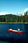 CA: Sequoia-Kings Canyon National Park, canoe   .Photo Copyright: Lee Foster, lee@fostertravel.com, www.fostertravel.com, (510) 549-2202.Image: catree213