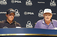 Press conference to mark Phil Mickelson (USA) and Ernie Els (RSA) celebrating their 100th Major Championship this event during Tuesday's Practice Day of the 2017 PGA Championship held at Quail Hollow Golf Club, Charlotte, North Carolina, USA. 8th August 2017.<br /> Picture: Eoin Clarke | Golffile<br /> <br /> <br /> All photos usage must carry mandatory copyright credit (&copy; Golffile | Eoin Clarke)