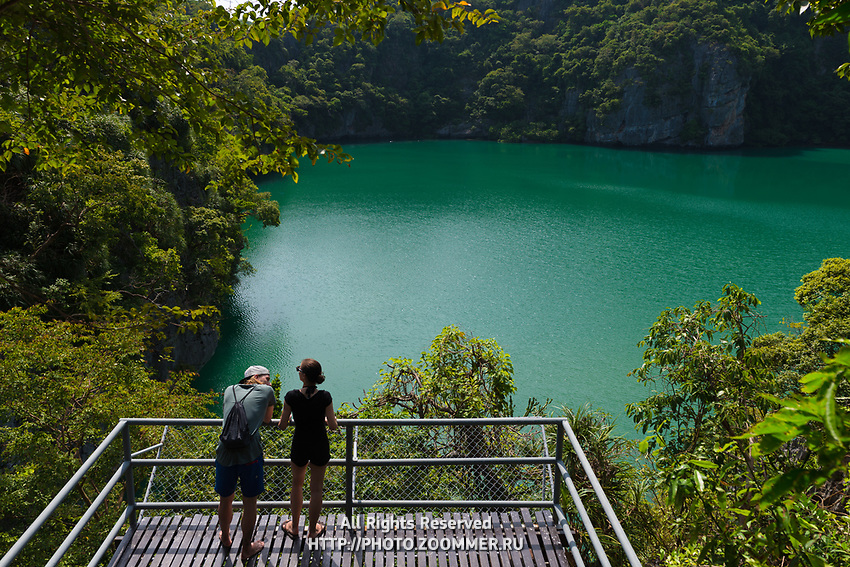 Emerald Lake (Blue Lagoon) in Ko Mae Ko island, one of is Ang Thong National Marine Park islands, Thailand