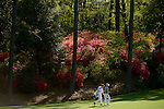 AUGUSTA, GA: APRIL 10 - Luke Donald of England walks to the first green during the first round of the 2014 Masters held in Augusta, GA at Augusta National Golf Club on Thursday, April 10, 2014.. (Photo by Donald Miralle)