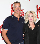 Director Jerry Mitchell, Cyndi Lauper (Music) attending the Meet & Greet the Cast & Creative Team of the New Broadway Musical 'Kinky Boots' at the New 42nd Street Studios in New York City on September 14, 2012.