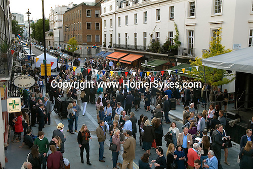 Elizabeth Street summer Street Party Chelsea and Kensington Belgravia London SW1 UK