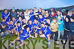 St Mary's players celebrate with the Jack Murphy Cup after their victory in the South Kerry senior football Final over Skellig Rangers.