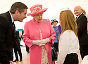 Her Majesty, Queen Elizabeth meets winners of the Queen's Award for Voluntary Services at George Square, Glasgow as part her her Diamond Jubilee Celebrations.