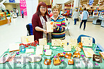 Emma Byrne and Ann Seymore at the Burning Images stand at the Food and Craft Fair on Saturday
