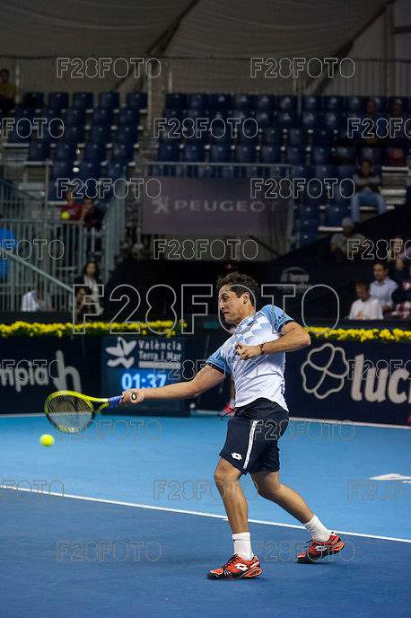VALENCIA, SPAIN - OCTOBER 28: Nicolas Almagro during Valencia Open Tennis 2015 on October 28, 2015 in Valencia , Spain