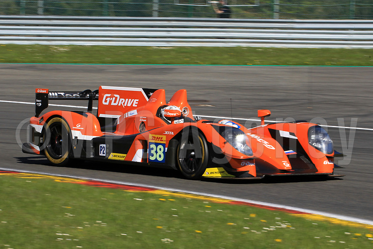 #38 G DRIVE RACING (RUS) GIBSON 015S NISSAN LMP2 SIMON DOLAN (GBR) JAKE DENNIS (GBR) GIEDO VAN DER GARDE (NLD)