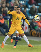 23rd March 2018, Ullevaal Stadion, Oslo, Norway; International Football Friendly, Norway versus Australia; Dimitri Petratos of Australia waist for the incoming pass