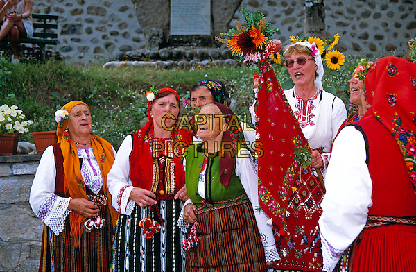 Dobarski Babi Folk Group singing, Dobarsko, Bulgaria