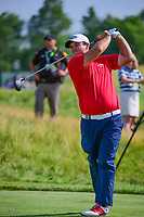Patrick Reed (USA) watches his tee shot on 12 during Thursday's round 1 of the 117th U.S. Open, at Erin Hills, Erin, Wisconsin. 6/15/2017.<br /> Picture: Golffile | Ken Murray<br /> <br /> <br /> All photo usage must carry mandatory copyright credit (&copy; Golffile | Ken Murray)