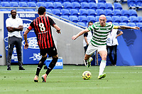 16th July 2020; Nice, France; Veolia Trohy Football friendly, OGC Nice versus Celtic FC;  Pierre Lees-Melou Nice closes down Scott Brownof Celtic