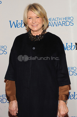 New York, NY-  November 6: Martha Stewart attends the Health Hero Awards  hosted by Web MD at the Times Center on November 6, 2014 in New York City. Credit: John Palmer/MediaPunch
