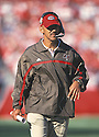 Tampa Bay Buccaneers, Tony Dungy (Head Coach)  during a game from his 2001 season. Tony Dungy coached for 13 years with 2 different teams and won the 2006 Super Bowl with the Indianapolis Colts.