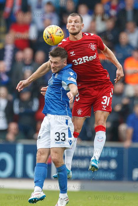22.09.2019 St Johnstone v Rangers: Borna Barisic and Matty Kennedy