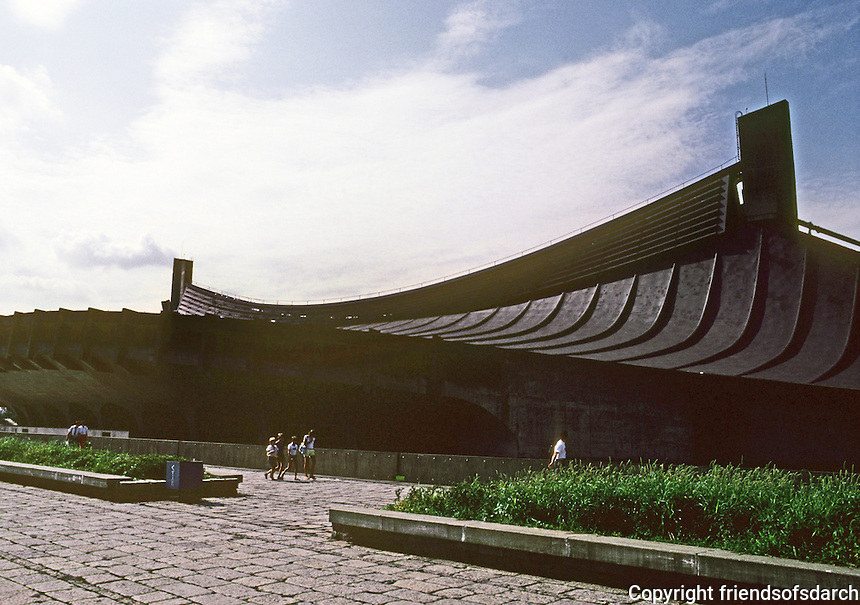 Tokyo: Sports Halls. Kenzo Tange. Photo '81.