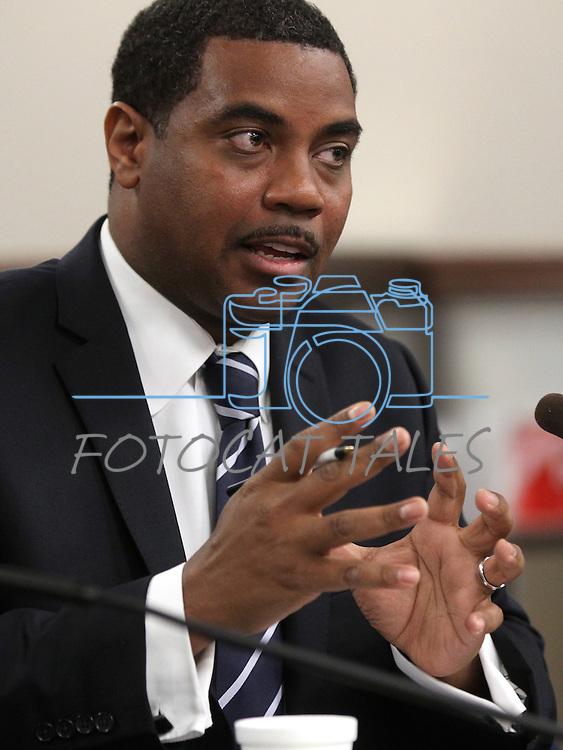 Nevada Senate Majority Leader Steven Horsford, D-North Las Vegas, testifies on a job-creation bill in a hearing Thursday, April 28, 2011, at the Legislature in Carson City, Nev. .Photo by Cathleen Allison