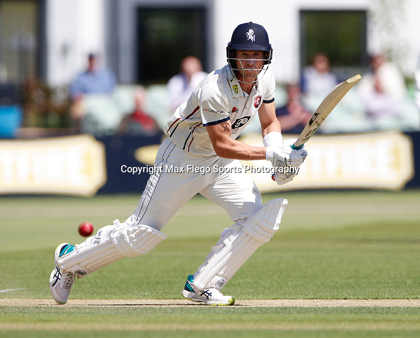Joe Denly bats for Kent during the Specsavers County Championship Div 2 game between Kent and Sussex at the St Lawrence Ground, Canterbury, on May 11, 2018