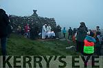 Fr. Jim Sheehy and fr. Seamus McKenna celebrating Aifreann Bhreacadh an Lae at Teampall Geal, Baile Riabhach.