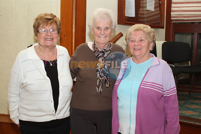 Betty Keogh, Molly Woods and Sarah Lawlor at the Set Dancing Weekend in An Grianan...(Photo credit should read Jenny Matthews/www.newsfile.ie)....This Picture has been sent you under the conditions enclosed by:.Newsfile Ltd..The Studio,.Millmount Abbey,.Drogheda,.Co Meath..Ireland..Tel: +353(0)41-9871240.Fax: +353(0)41-9871260.GSM: +353(0)86-2500958.email: pictures@newsfile.ie.www.newsfile.ie.