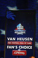 Logo der Fanabstimmung zur Hall of Fame<br /> NFL Hall of Fame PK *** Local Caption *** Foto ist honorarpflichtig! zzgl. gesetzl. MwSt. Auf Anfrage in hoeherer Qualitaet/Aufloesung. Belegexemplar an: Marc Schueler, Alte Weinstrasse 1, 61352 Bad Homburg, Tel. +49 (0) 151 11 65 49 88, www.gameday-mediaservices.de. Email: marc.schueler@gameday-mediaservices.de, Bankverbindung: Volksbank Bergstrasse, Kto.: 52137306, BLZ: 50890000